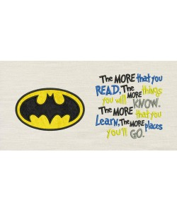 Batman logo with the more that you read