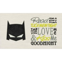 Batman Mask with read me Embroidery Designs