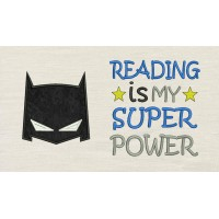 Batman Mask with Reading is My Superpower Designs
