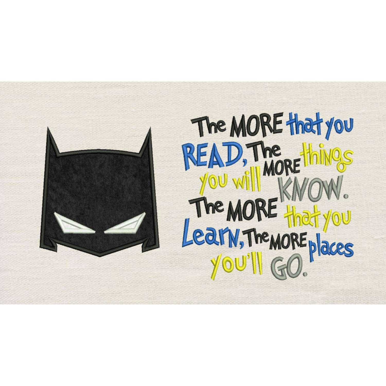 Batman Mask with the more that you read
