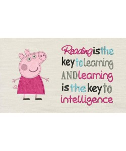 Peppa Pig applique with Reading is the key
