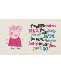 Peppa Pig applique with the more that you read
