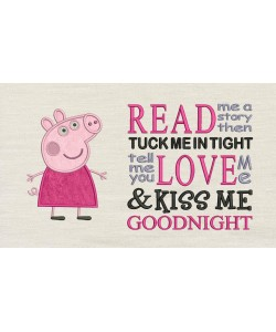 Peppa Pig applique with read me a story designs