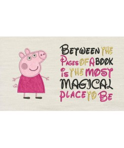 Peppa Pig applique with Between the Pages
