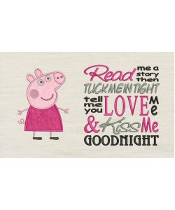 Peppa Pig applique with Read me Designs