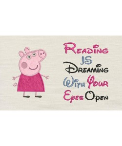 Peppa Pig applique with reading is dreaming