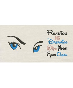 Eyes areg With Reading is dreaming Designs