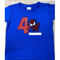Spiderman with number 4 Design