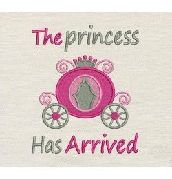 The princess has arrived Embroidery