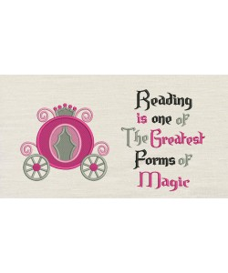 Princess carriage with Reading is one