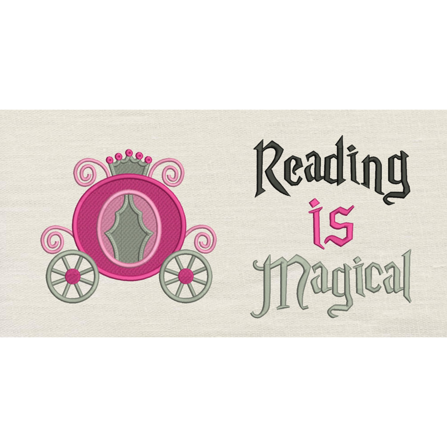 Princess carriage with Reading is Magical