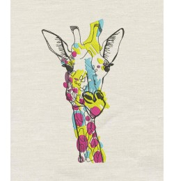 Giraffe coloring embroidery design