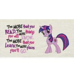 Twilight Sparkle pony with the more that you read