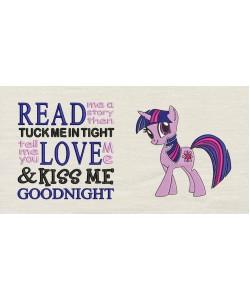 Twilight Sparkle pony with read me a story