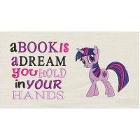 Twilight Sparkle pony with a book is a dream
