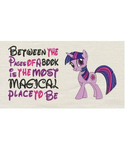 Twilight Sparkle pony with Between the Pages