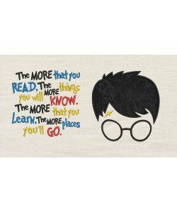 Harry Potter Face Applique the more that you read