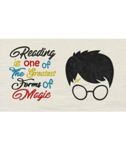 Harry Potter Face Applique Reading is one