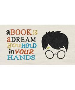 Harry Potter Face Applique a book is a dream