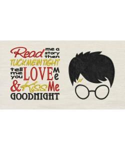 Harry Potter Face Applique Read me a story designs