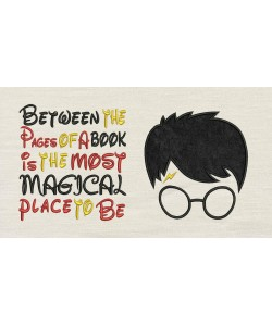 Harry Potter Face Applique Between the Pages