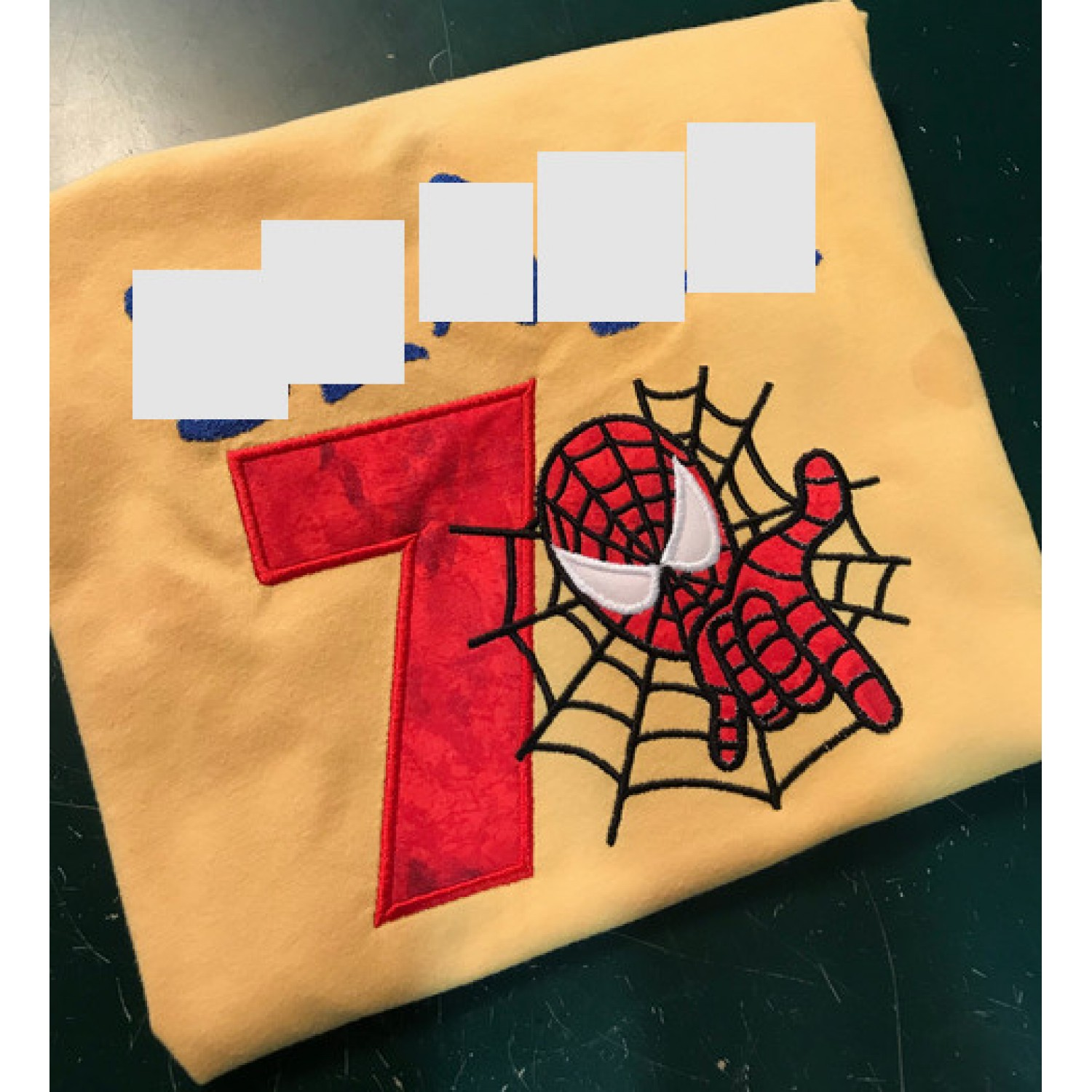 Spiderman with number 7 Design