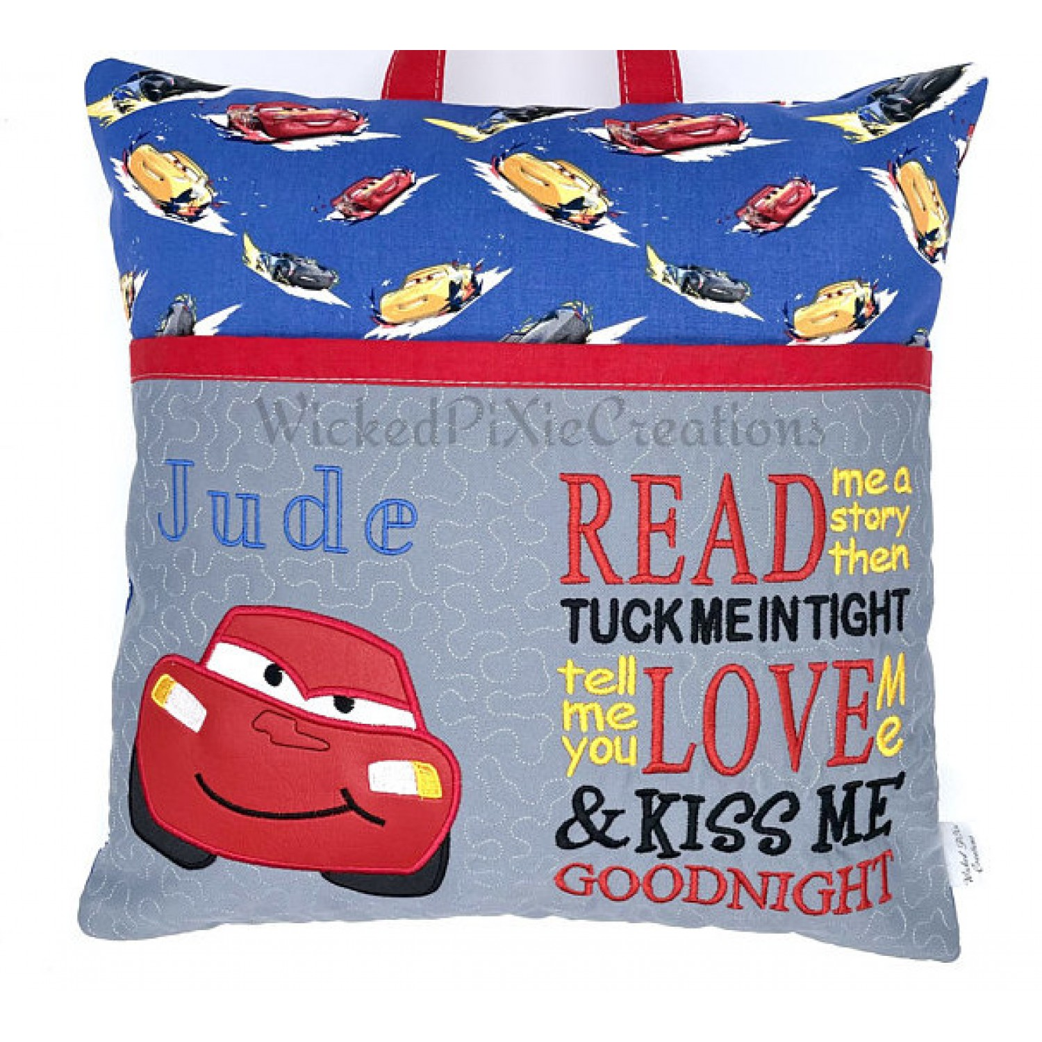 McQueen applique with read me a story designs