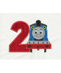 Thomas the train with number 2 Design