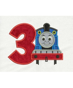 Thomas the train with number 3 Design