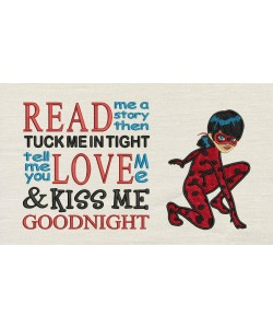 Miraculous Applique with read me a story