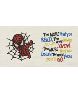 Spiderman embroidery with the more that you read