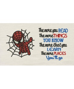 Spiderman embroidery with The more you