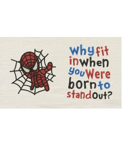 Spiderman embroidery with Why fit
