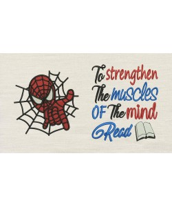 Spiderman embroidery with To strengthen