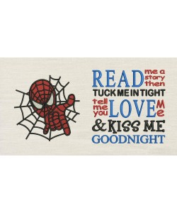Spiderman embroidery read me a story designs