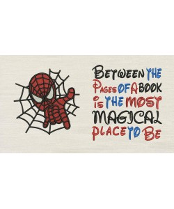 Spiderman embroidery with Between the Pages