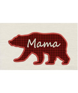 Bear mama embroidery design