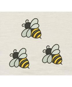 Bee three Embroidery Design