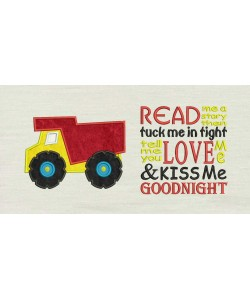 Dump truck with read me story