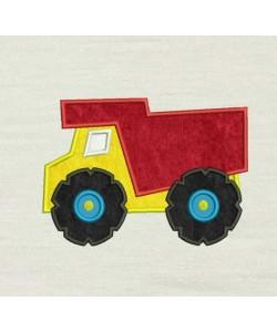 Dump truck applique Design
