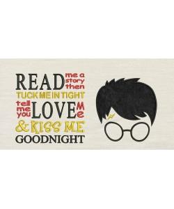 Harry Potter Face Applique Read me a story