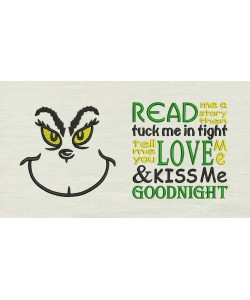 Grinch eyes with read me a story designs