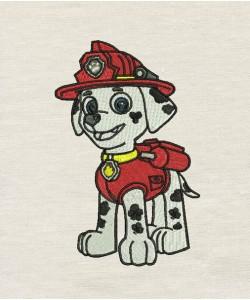 Marshal Paw Patrol embroidery