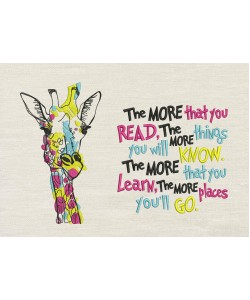 Giraffe coloring with the more that you read