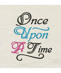 Once Upon embroidery design