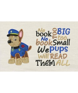 Chase Paw Patrol with No book too big