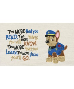 Chase Paw Patrol with the more that you read