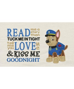 Chase Paw Patrol with Read me a story designs