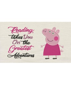 Peppa Pig embroidery with reading takes you