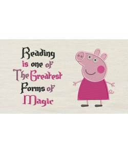 Peppa Pig embroidery with Reading is one